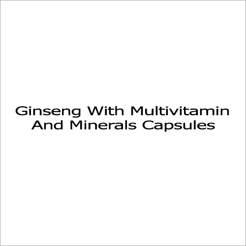 Ginseng With Multivitamin And Minerals Capsules