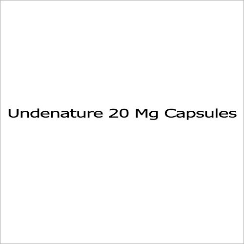 Undenature 20Mg Capsules