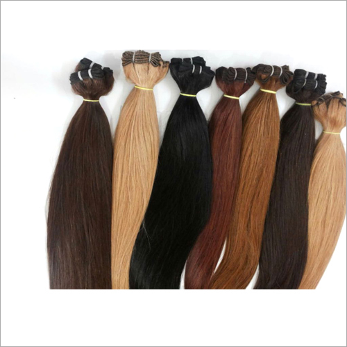 Coloured Indian Human Weft Hair