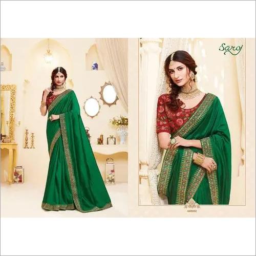 Green Colored Silk Saree