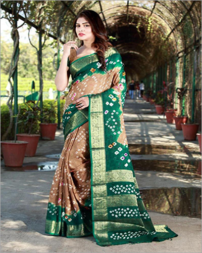 Art Silk With Zari Waving Saree