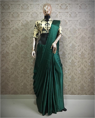 Satin Slik With Digital Print Sarees