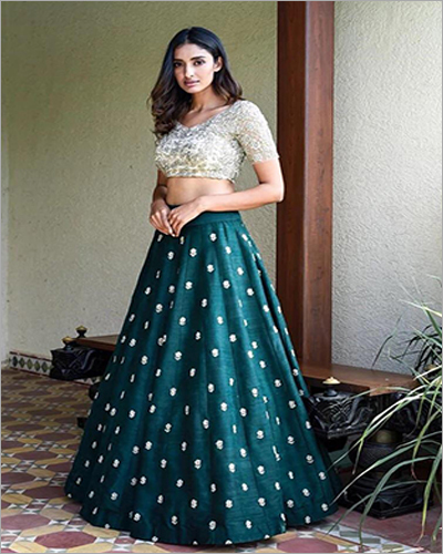 Diamond Slik Work Embroidered Lehenga Choli