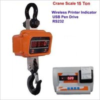 15 Ton x 5 Kg Crane Scale with Wireless Printer Indicator Usb Pen Drive Rs232