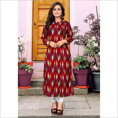 Full Sleeves Printed Kurti