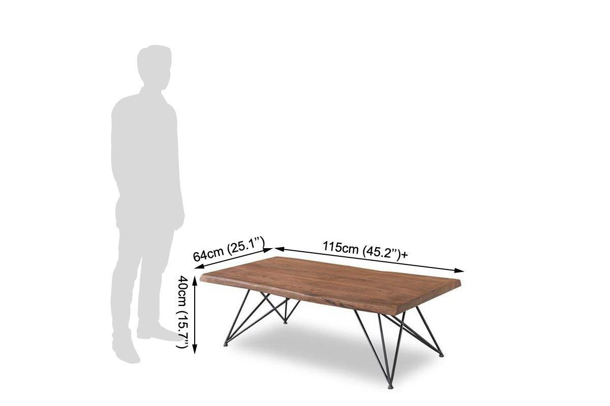 Sold wood center table With Iron Leg base Composer