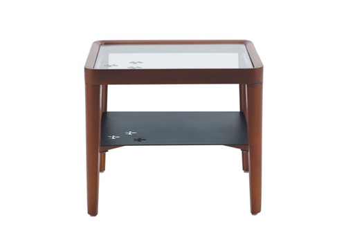Wooden center table with iron rack paragon