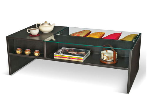 Wooden center coffee table with storage Fanciful