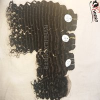 Deep Curly Extensions Human Hair Weft
