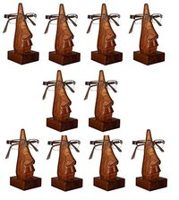 Unique Hand Carved Rosewood Nose-Shaped Eyeglass Spectacle Holder Family Pack (Set of 10)