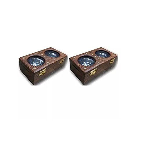 Wooden Dry Fruit/Sweets/Spices Box, Pack of 2