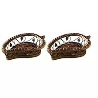 Wooden Handcrafted Fruit Basket, Pack of 2