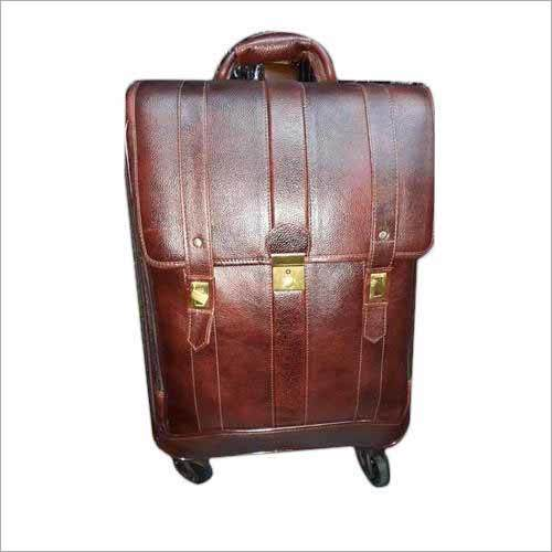 Pure Leather Trolley Bag