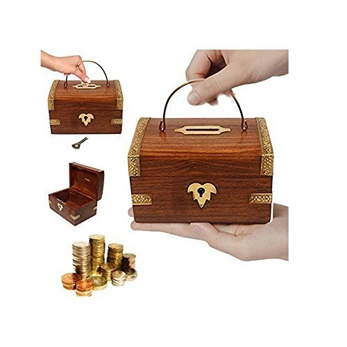 Handcrafted Wooden Money/Piggy Bank Cum Coin Box