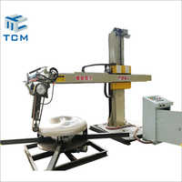 Steel Metal Tank Cap Outer Surface Automatic Polishing Machine