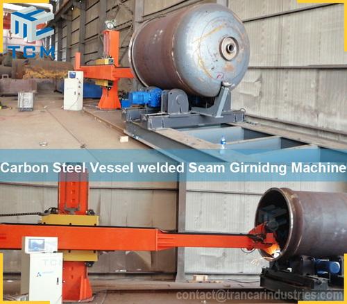 Carbon Steel Vessel Tank Welding Seam Grinding Machine