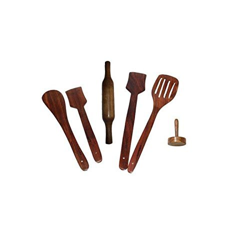 Wooden Kitchen Tool Set - Pack of 6