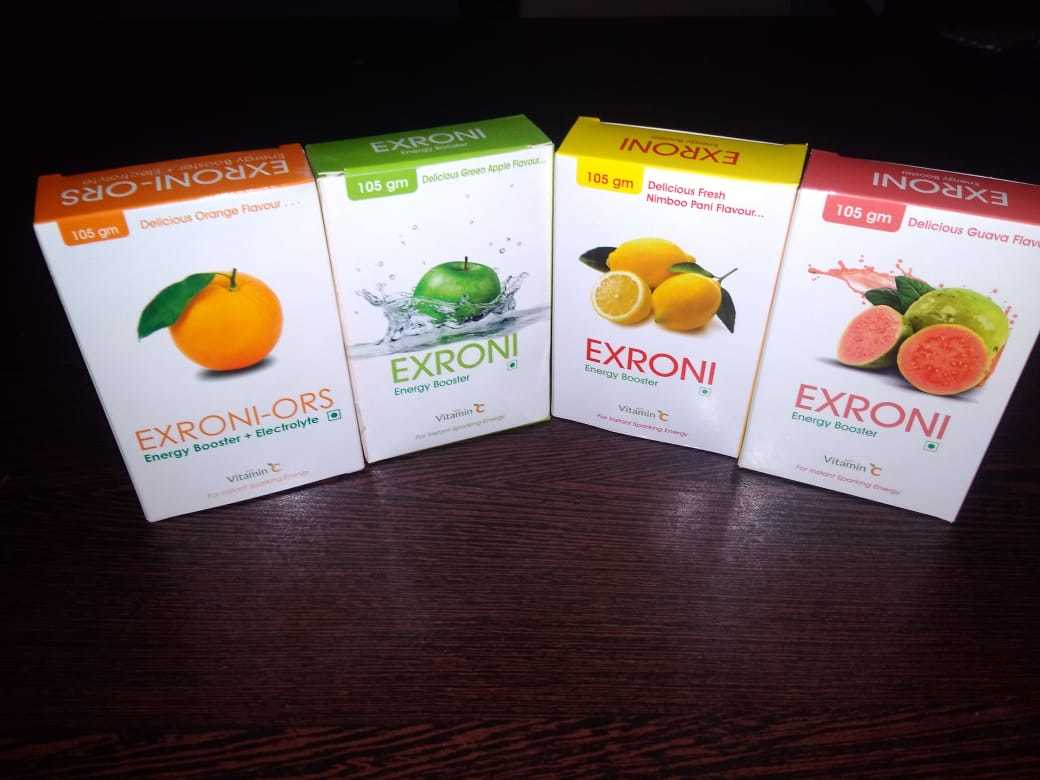 Exroni Energy Booster green apple flevour