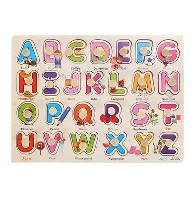 Cute Alphabet Knob Puzzle