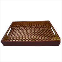 Faux Leather Serving Tray