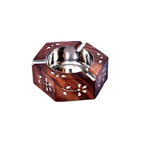 Brown Wooden Sheesham Ashtray