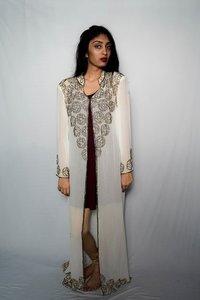 white kaftan with gold embroidery kaftan dress