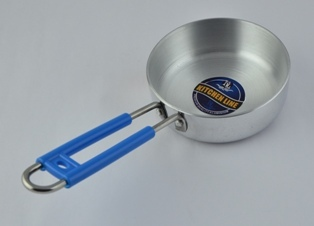 aluminium steel polish tadka pan