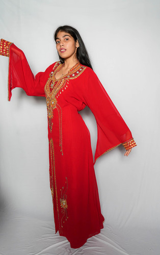 Kaftan Embroidery Red