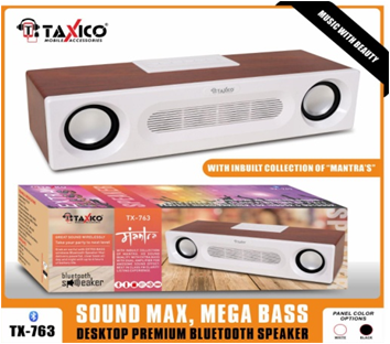 TX-763  BLUETOOTH  SPEAKER WITH MANTRA MUSIC