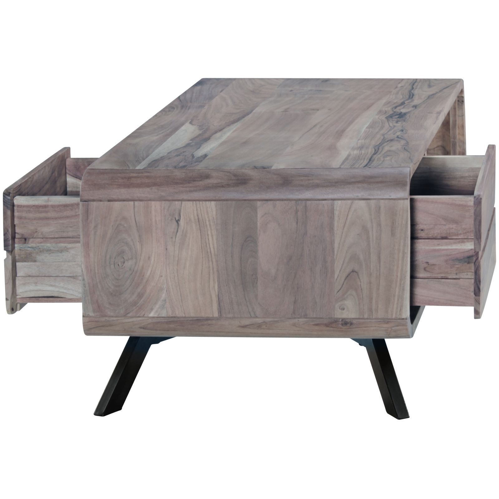 Wooden Center coffee table two way drawer Parome