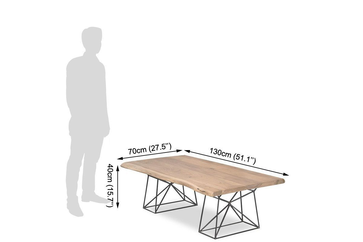 Center Coffee table with Iron Base Ferrous