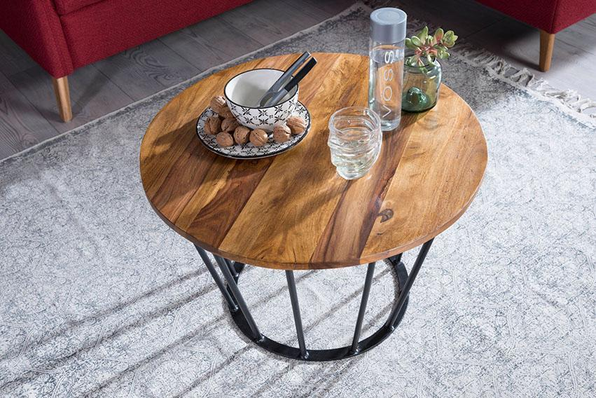center coffee table with Iron base Fumary