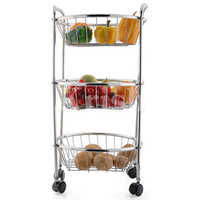 3 Tier Round Trolley