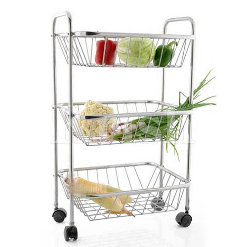 3 Tier Rectangular Trolley