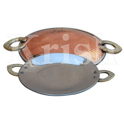 Copper Round Serving Platter