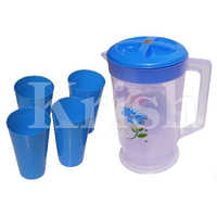 4 Plastic Glass With Jug