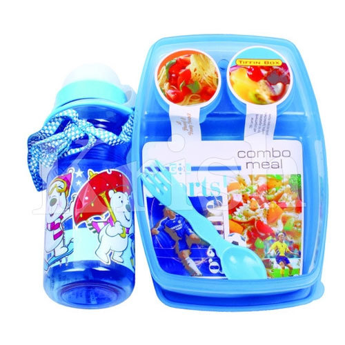 Kids Plastic Bottle With Lunch Box