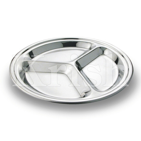SS Round Compartment Tray
