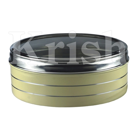 SS Colored Round Container