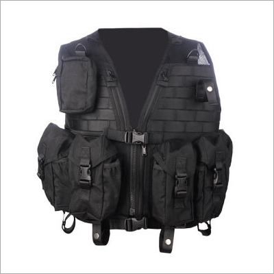 Black Tactical Vest Combat Gear