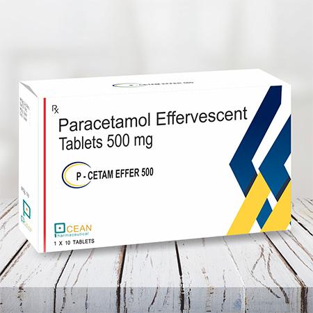 P Cetam Effer 500-peracetamol Effervescent Tablets 500mg