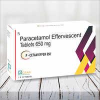 P-cetam Effer 650-peracetamol Effervescent Tablets 650mg