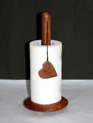 Kitchen Roll Holder, Brown