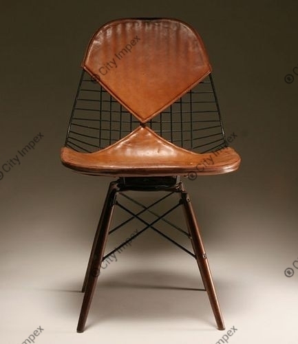 Lether Wired Cover Chair