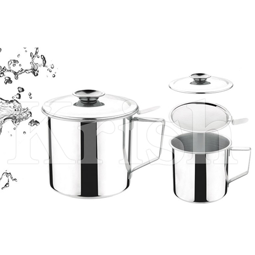 SS Oil Pot with Filtering Strainer