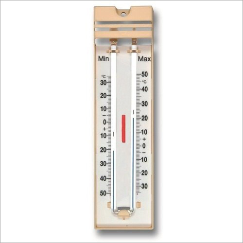Maximum And Minimum Wooden Plate Thermometer
