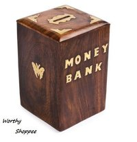 Handicrafted Wooden Currency Bank