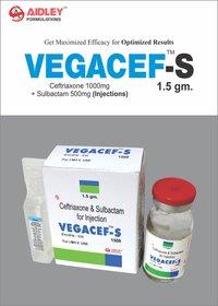 Ceftriaxone 1gm + Sulbactam 500mg Injection