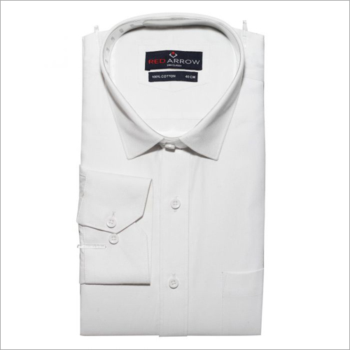 White Cotton Formal Shirts
