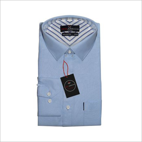 Sky Blue Cotton Formal Shirts